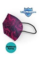 Medizer Qzer Fuşya Desenli N95 Maske 10 Adet