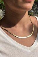 Novon Giyim & Aksesuar 316l Çelik Kalın Italyan Premium Altın Renk Kolye