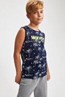 Defacto Erkek Çocuk Palmiye Baskılı Pamuklu Atlet
