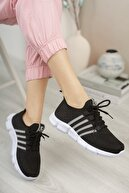 Riccon Unisex Siyah Beyaz Sneaker 0012370
