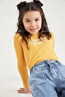 Defacto Kız Çocuk Baskılı Tişört