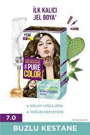 Pure Color Saç Boyası 7-0 Buzlu Kestane X 2 Adet + Uyku Bandı