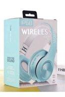 Universal P68 Bluetooth Kablosuz Stereo Kulaklık - Turkuaz