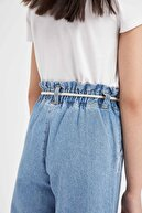 Defacto Kız Çocuk Hasır Ipli Culotte Pantolon