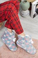 Moda Frato Rp-ponpon Kalpli Kadın Panduf Ev Ayakkabısı Ses Yapmayan