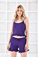 Cicigirls Kadın Ip Askılı Fırfırlı Pijama Takım