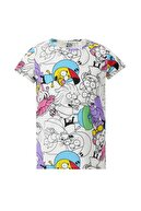 Defacto Kız Çocuk Kral Şakir Kısa Kol T-Shirt