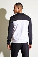 Defacto Erkek Gr' Fermuarlı Kolej Yaka Slim Fit Sweatshirt