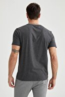 Defacto Regular Fit Bisiklet Yaka Basic Antrasit Tişört