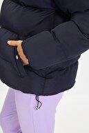 TRENDYOLMİLLA Siyah Oversize Dik Yaka Şişme Mont TWOAW21MO0045