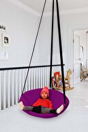Svava Mor Relaks Çocuk Ve Yetişkin Salıncak Koltuk - Yuvarlak Tavana Asılan Salıncak