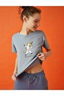 Koton Kadın Mavi  T-Shirt