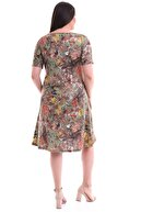 Alesia Çiçek Desenli Viskon Elbise