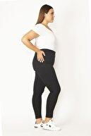 Şans Kadın Siyah 5 Cepli Skinny Pantolon 65N27636