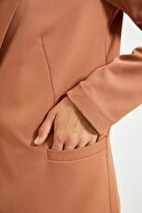 TRENDYOLMİLLA Camel Astar Detaylı Blazer Ceket TWOAW20CE0316