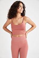 Defacto Askılı Tulum Bralet Detaylı Slim Fit Crop Spor Atlet