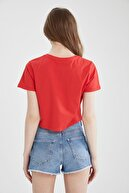 Defacto Kadın Regular Fit Basic  Crop Tişört Seti 2'li