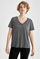 Defacto V Yaka Basic Relax Fit Tişört