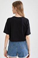 Defacto Yazı Baskılı Pamuklu Relax Fit Cop Tişört