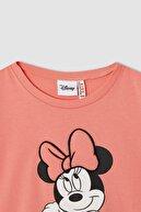 Defacto Kız Çocuk Minnie Mouse Lisanslı 3d Dolgulu Kısa Kollu Tişört