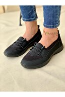 LİNA SHOES Siyah Ortopedik Günlük Ayakkabı