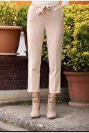Essah Moda Kadın Ekru Lastikli Havuç Pantolon - Me000309