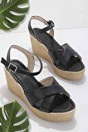 Bambi Siyah Kadın Sandalet K05936021109
