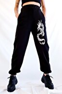 K&H TWENTY-ONE Dragon Siyah Jogger Eşofman