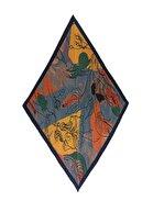 Y-London 13464-1 Çiçek Desenli Pliseli Fular
