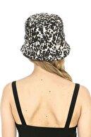 Y-London 14021 Pamuklu Leopar Desenli Haki Bucket & Balıkçı Şapka