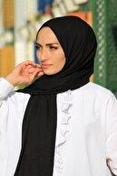 İNCEYAŞAM Kadın Luxury Siyah Penye Şal