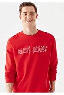 Mavi Logo Baskılı Kırmızı Sweatshirt 065752-29781