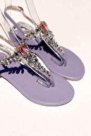 MaiaMarca Kadın Lila Taşlı Sandalet