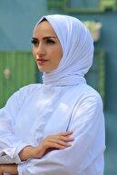 KETEN OFFİCİAL Kadın Beyaz Penye Şal