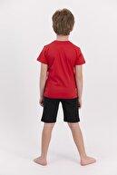US Polo Assn U.s. Polo Assn Lisanslı Kırmızı Erkek Çocuk Bermuda Takım
