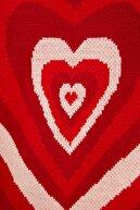 TRENDYOLMİLLA Kırmızı Bisiklet Yaka Kalp Jakarlı Triko Kazak TWOAW22KZ1047