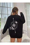 Black Sokak North Baskılı Swetshirt.