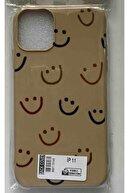 LAZİSTBUTİK Iphone 11 Smile Desenli Baskılı Koruyucu Beyaz Kılıf