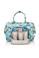 Lal Baby Baggage Bag Köpek Mavi Omuz Askılı Anne Bebek Bakım Çantası
