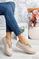 Gimeravm Ortopedik Taban Lazerli Krem Ayakkabı