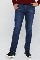 Mutlu City Erkek Mavi Slim Fit Likralı Jean Kot Pantolon 1122