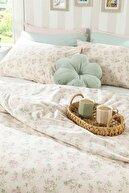 English Home Sweet Rose Pamuklu Çift Kişilik Nevresim Seti 200x220 Cm Pudra
