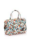 Lal Baby Baggage Bag Flowers Omuz Askılı Anne Bebek Bakım Çantası