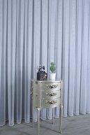 PERDECITY Düz Tül Perde Petek Zemin 350x260 cm 1 2 Seyrek Pile