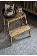 IKEA Tenhult Basamaklı Mutfak Tabure Merdiven Bambu Vernikli