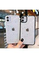 Go Aksesuar Phone 11 Kenarı Beyaz Renkli Simli Darbe Önleyici Silikon Kılıf