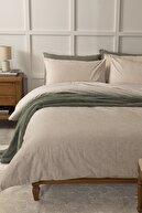 English Home Lace Dream Pamuklu Çift Kişilik Nevresim Seti 200x220 Cm Bej