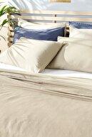 English Home Cool Stripe Soft Touch King Size Pike Seti 220x240 cm Bej