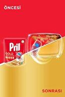 Pril Gold 140 Yıkama Bulaşık Makinesi Deterjanı Tableti (2 x 70'li Paket) + Makine Kokusu Hediye