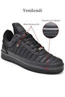L.A Polo 07 Siyah Siyah Dikişli Unisex Spor Ayakkabı